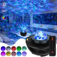 Светодиодные звезды Sky Galaxy Projector Light Новинка ночные огни Bluetooth музыкальный динамик для вечеринки хорошие дети дети подарок Dropshipping