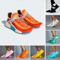 Fashion-pharrell williams nmd human race mens running shoes chocolate dash green solar pack s women men trainers sports coras