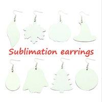NEWHOT! Sublimation Earrings DIY PU blank white earrings creative trinkets women fashion styles INS decoration two-side ZZF8469