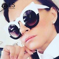 LS Personality Sunglasses UV400 Shades de luxe en gros Lunettes de soleil rétro Nouvelle mode Hommes et femmes Cat Eye YB113
