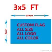 3ftx5ft 90x150cm فريق كرة القدم / نادي مخصص جعل العلم أي شعار اللون حجم أحادي الجانب مخصص العلم مصمم نادي كريست عيد الميلاد العلم