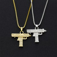 Collana del pendente dell'anca hop hop collana in oro 18 carati in argento placcato argento ghiacciato cz diamanti a fascino pendente di fascino benissimo catena cubana 95 u2