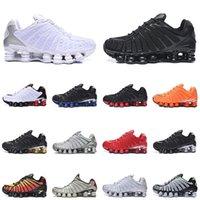Nike Shox TL R4 Enigma Zapatos para correr hombre para mujer Tamaño Us 12 Blanco Plata Triple Negro Velocidad de oro Rojo Racer Azul Hombre Mujer Zapatillas de deporte 36-46 Eur