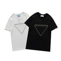 21SS Neue Frauen T-Shirt Mode Matching Trend Brief Pailletten Muster Hohe Qualität Kurzarm Männer T-Shirt Größe S-2XL WF2012251