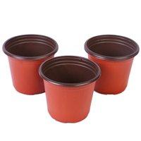 2021 Double Color Flower Pots Plastic Red Black Nero Trapianto Trapianto Bacino Instrucializzabile Flowerpot Home Plantatori da giardino Forniture da giardino