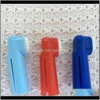 الحيوانات الأليفة الكلب فنجر فرشاة الأسنان فرشاة تنظيف الأسنان الفم يساعد على تقليل تدليك فرشاة إضافة سيئة التنفس tartar الأسنان العناية 8LPRG NYLWS