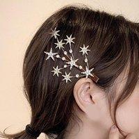 Hair Clips & Barrettes Shiny Star Rhinestone Hairpins Clip Sweet Headwear Grip Accessories For Women Girl Wedding