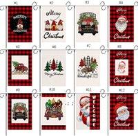 Banderas de jardín de Navidad Detalle decorativo Santa Claus Snowman Indoor Outdoor Yard Banner Decoración del hogar OWB10628