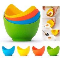 실리콘 계란 Poacher 요리사 Poach 포드 계란 금형 그릇 모양 계란 반지 실리콘 팬케이크 주방 요리 도구 가제트 GWD7297