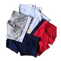 Nueva moda para hombre ropa interior bragas para hombres calzoncillos hombre boxeador hombre ropa interior algodón hombre grande corto transpirable sólido flexible shorts boxers