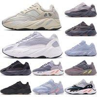 AD Yeezy 700 V2 Running shoes Kanye west الجمهورية العاكسة تيفرا الصلبة رمادي فائدة سوداء فانتا الرجال النساء الرياضة أحذية رياضية يورو 36-45