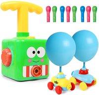 Coche eléctrico de globo, bomba de globo vehículo de juguete de coche Conjunto con torre de lanzamiento Coches aerodinámicos con aire inflable
