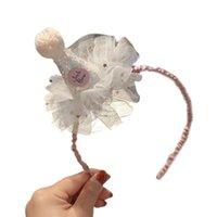 Saç Aksesuarları Bebek Kız Pırıltılı Pullu Koni Şapka Kafa Prenses Ruffled Mesh Tatlı Doğum Günü Taç Hoop Parti Malzemeleri