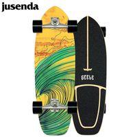 Jusenda Terre Surfboard Professionnel Big Skateboard 29in Bois Érable Simple Rocker Haute Vitesse Mini Longboard Coup de pied Pompage à sculpture