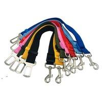 Cuello de perro de mascotas ajustable Cinturón de seguridad Cinturón de seguridad Nylon Mascotas Perrito Líder Leash Arnés Suministros de vehículos Viajar HHB7546