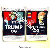 Trump OG Bag Sleepy Joe 2021 BACK 3 5G Mylar Bag Sacchetti con cerniera lati sigillato piatto 420 flower imballaggio richiudibile
