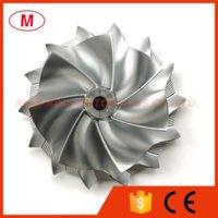 GT3582 62.70 / 82.00mm 7 + 7 lames Performance Turbo Billette Compresseur Compresseur / en aluminium 2618 / Fraisage Point pour cartouche turbocompresseur / chra / noyau