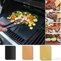 재사용 가능한 비 스틱 바베큐 그릴 매트 패드 베이킹 시트 휴대용 야외 피크닉 요리 바베큐 플레이트 오븐 툴 파티 액세서리 그릴 YL0257
