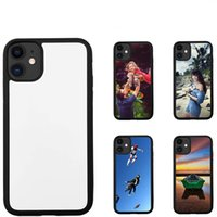 Sublimation Blanks Phone Cases TPU PC For Iphone 13 Pro Max 12 Mini 11 XSMAX XR XS X 8 7 6 Plus 2D Blank Cellphone Case With Sticky Aluminum Inserts Back Cove