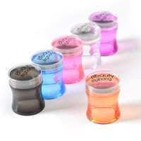 BeautyBigBang Nagel Stamper Kunststoff-Silikon-Griff-Griff-Griff-Griff-Nagel-Stempel-Maniküre-Stempel-Schablonen-Werkzeuge-Stempel für das Stempeln von Nail art