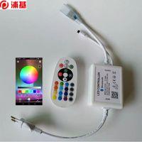 110V 220V 블루투스 컨트롤러 LED 스트립 라이트 RGB 컬러 IR 원격 변경 음악 DIY 설정 스마트 LED 전구 US EU 플러그