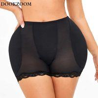 Big Spong Tummy Control Panties Stomach Hip Pad Firm Control Shapewear Body Shaper Butt Lifters Bodysuit Booty Butt Enhancer Q0819