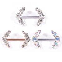 الأزياء والمجوهرات المتناظرة الماس الدائري الثدي النمط الأوروبي الفولاذ الصلب ثقب مسمار الثدي
