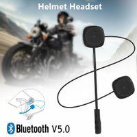 Auricolari del casco dell auricolare del Bluetooth del motociclo Auricolare vivavoce Moto con altoparlante MP3 micPHONE per telefono cellulare, Voice GPS Navigation
