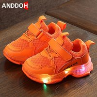 Sneakers Size 21-30 Baby Casual Shoes Toddler Glowing Kid Running With Lights Children Led Light Up Luminous