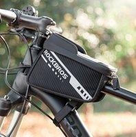 Pantalla táctil de Rockbros Bolsas de teléfono de bicicleta reflectante Doble cremallera de alta capacidad Almacenamiento separado MTB Bolsa de bicicleta delantero