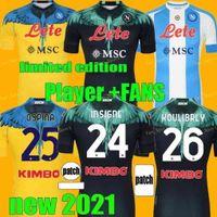 Jeux Version 2021 2022 Napoli Soccer Jerseys Spécial Edition spéciale Gardien de but Maradona Maglietta Osimhen Insigne 21 22 SSC Naples Magles Maglia Mertens Football Shirt