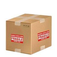 Verpackungspapier 500 stücke Verpackung Warnung Stikus Fragile Griff Pflege mit danken Ihnen Label Aufkleber 1 Rolle 2x3 Zoll (51 x 76mm) B0Cl