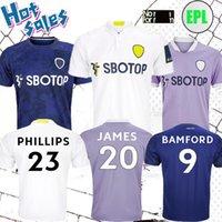 21/22 Leeds United James Soccer Jersey 2021 Inicio Alioski Cooper T Roberts Jansson Bamford Hernández Klich Away Maillots Camisetas de Fútbol Uniformes