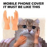 Kleines Tier liefert 1 Paar Mini Hände lustige Kätzchen Welpen Fingerhülse Handpuppe Haustier Massagegerät Handschuhe Modell Katze Teaser Spielzeug