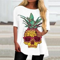 Women's T-Shirt 2021 Summer Womens Clothing Trend Fashion Skull Printed T Shirt Women Short Sleeve Streetwear Tee Female Top.