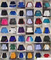Equipe Basquetebol Curto Apenas Don Cidade Retro Sport Shorts Hip Pop Pale com Bolso Zipper Sweetpants Roxo Branco Negro Azul Vermelho Mens