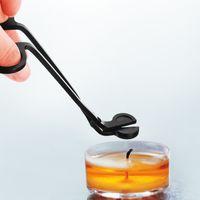 Nero Acciaio inossidabile Acciaio inox Wick Trimmer Lampada dell'olio Trim Scissor TIJERA TESOURA Cutter Snuffer Tool Gancio Clipper BWB8711