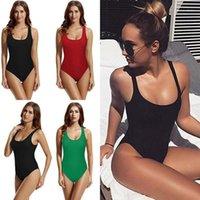 2020 sexy 1 einteiliger Badeanzug Backless für Frauen Swimwear Niedrig Kürzel Badenanzug Schwimmen Wear Weibliche Monokini S-2XL1