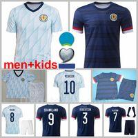 Nationalmannschaft Schottland Fussball Jersey leer 7 John McGinn 9 Lyndon Dykes 11 Ryan Christie 20 Fraser Donnell McGregor Mctominay Fußball Hemd Kits Jugend Männer Kinder Mann