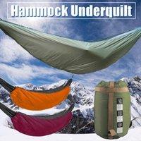 Bolso de dormir de la hamaca Ultraligero Al aire libre Camping Subestimación Portátil Invierno Cálido Bajo Quilt Manta Bolsas de algodón