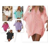 Strandkleid für Frauen Badeanzug Cover Swimwear Damen Tunika Wear Cape auf Ebey Splitter Spitzenblusen Rock Große Jacken Patchwork Y0310