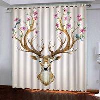 Sala de estar quarto blackout cortinas animais cortina de janela 3d moderna cortinas cortinas