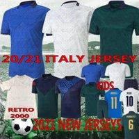 Thai 2021 Itália Copa Europeia Copa de futebol Jersey Chiellini El Shaarawy Bonucci Insigne Bernardeschi Camisas de futebol Men + Kit Kit uniformes
