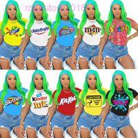 10 colori Vendita calda Abbigliamento da donna Nuove T-shirt da donna T-shirt da donna Estate Moda Casual Traspirante Comodo T-shirt con stampa a maniche corte