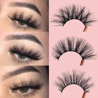 Three Pairs Of Imitation Mink False Eyelashes Mixed Long Cross Thick Exaggerated Fake eyelash DHL Free