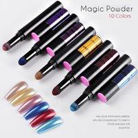 Chiodo Glitter Polvere Air Cuscino Penna Specchio Effetto Chiodo Polvere di Chrome Chrome Nail Art Pigment Holographic Design Design Veloce