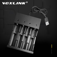 VOXLINK 18650 LED 4 슬롯 스마트 충전 리튬 이온 충전식 충전기 26650 21700 14500 26500 22650 26700