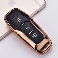 Автомобиль TPU Smart Remote Case Case Automobile Protected Key Cover Cover для Ford Edge Mondeo Mustang для Ford Keys Keychain