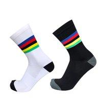 Bisiklet Çorap Bisiklet Çorap Yeni Şampiyonu Gökkuşağı Erkekler Açık Spor Profesyonel Rekabet Calcetines Ciclismo Hombre