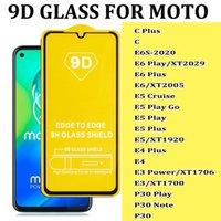 Para Moto C Plus E6S E6 Play E5 Cruise Play Go E4 E3 P30 Play Note 9D Protector de pantalla de tela de vidrio templado